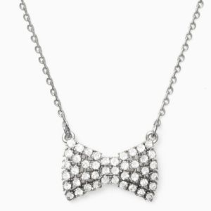 Sparkling Mini Bow Necklace by Kate Spade